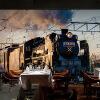3D обои для фото ретро 3D поезд глава обои настенный поезд тематический ресторан кафе KTV бар фон стена обои билеты на поезд из симферополя