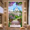 Обои для рабочего стола 3D Природа Пейзаж Деревянные мостовые мозаики Гостиная Ресторан Вход Фон Обои для стен Papel De Parede декор для стен