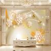 Пользовательские обои Mural для стен Roll Diamond Jewelry Butterfly Luxury 3D Living Room TV Background Фото Обои для рабочего стола Домашний декор декор для стен