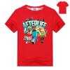 Minecraft Alex & Friends Girls Boys t Shirt 3-13 Kids Video Game Tee 2018 Summer New Run Away Приключения Топы Детская одежда