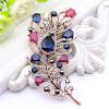 Изысканный турецкий цветок женщин брошь Pin Vintage перо дизайн смолы ювелирные шпильки антикварные золотые цветные броши броши бр