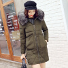 Winter New Arrival Women's Cotton-padded Long Coat Fashion Fur Collar Hooded Winter Warm Outwear Coat Jacket 2017 new high quality big fur collar women long winter cotton padded coats female warm jacket large size parka outerwear qh0882