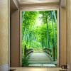 Пользовательские обои для фото 3D сценические обои настенные бамбуковые лесные дороги коридор гостиная фоновая картинная роспись пользовательские обои для фотографий европейская ретро газета обои кофейня бар ktv ресторан фоновая картинная роспись