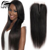 Top Quality Brazilian Virgin Human Straight Hair 4x4 Lace Closure 3 Way Part Bleached Knots Free Middle Three Part Free Shipping 10a brazilian kinky straight closure coarse yaki virgin human hair free middle 3 part lace closure bleached knots with baby hair