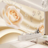 Современные простые желтые цветы Pearl Photo Wallpaper Murals Гостиная Фон Обои из бумаги Home Decor Papel De Parede 3D Paisagem custom 3d flooring wallpaper pvc wear non slip waterproof thickened self adhesive murals sticker hotel bathroom papel de parede