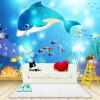 Пользовательские фото обои Современный подводный мир Дельфин Детская комната Спальня Нетканые настенные росписи Картины Обои Печать