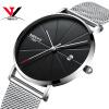 Ультра тонкие мужские кварцевые наручные часы сетчатой ленты Простые модные кожаные ремешки Смотреть NIBOSI 2018 Новый бренд Luxury Наручные часы Relogios часы