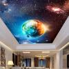 Большие пользовательские обои из мрамора Потолок Zenith Continental Hotel Bar KTV Клубы Потолочные обои Cool Starry Sky Earth Фото-обои
