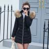 2017 New Winter Women's Coat Long Cotton Big Fur Collar Coat Padded Down Jacket okxgnz 2017 new winter women cloth fashion coat hooded fur collar thicken big yards cotton jacket leisure wind women coat a011