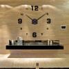 Современные безрамные DIY настенные часы Большие 3D Wall Watch Non Ticking для гостиной Спальня Кухня
