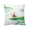 Riding A Horse Go Chinese Watercolor Polyester Toss Throw Pillow Square Cushion Gift 8pk aqua kem toss in