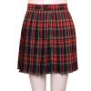 Стиль Preppy Японская школьница Плед Плиссированная юбка Высокая талия Короткие юбки тартана Юбки Джазовые танцевальные костюмы танцевальные костюмы для латино