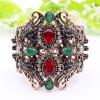 Vintage регулируемый размер смолы браслеты манжеты женщин браслеты турецкий античный золото цвет Bangle индийские ретро ювелирные