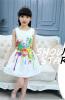 Без рукавов Дети Девушки Принцесса Цветочные летние платья длинные летние платья 2014 фото