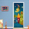 3D Cartoon Castle Детская комната Mural Обои ПВХ самоклеящиеся дверные наклейки Creative DIY Home Decor Papel De Parede 77cmx200cm beibehang living room bedroom wallpaper solid color nonwovens vertical striped green wall paper home decor papel de parede