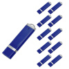 Fillinlight 10PCS Pack Navy Blue Rectangle Lighter Shape USB Flash Drive USB 2.0 Pen Drive Flash Drive ice cream style usb 2 0 flash drive disk brown dark grey 4gb