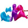 1 шт 100% Шелковые поклонники танца живота Цвет градиента Аксессуары для танцев Танец танца живота Роза + Фиолетовый + Бирюзовый танец живота уроки саломеи сd с видеокурсом