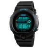 Время в США SKMEI женские часы спортивные часы Многофункциональные электронные часы детские старшеклассниками синий 1334