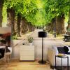 HD Green Forest Road 3D Mural Обои Пользовательский Любой размер Fresco Гостиная Спальня Столовая Дизайн интерьера Декор Обои бумажные обои fresco dimensional effects td4700