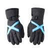 Yu Zhaolin (YUZHAOLIN) Перчатки мужские зимние ветрозащитные перчатки плюс бархат толстый теплый холодный ветер ветер верхом перчатки лыжные перчатки черный и синий футболка мужская yu zhaolin yzl14b1801