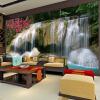 Пользовательские обои Mural 3D Нетканый водопад Ландшафтные украшения для стен Гостиная Кухня Картины Современные обои для стен т мные обои для стен где