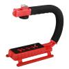 YELANGU S2-3 YLG0106B-C C-образная видеокамера DV Bracket Stabilizer для всех зеркальных камер и домашней DV-камеры (красный)