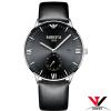Модные Простые водонепроницаемые часы NIBOSI Наручные часы кожаный ремешокНатуральная кварцевые наручные часы Брендовые мужские все цены