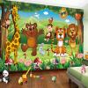 Пользовательские обои 3D-обои для фото для детской комнаты Animal Paradise Cartoon Children House Mural Нетканые обои для спальни Обои