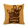 Фото пасхальный фестиваль коричневый кролик план религии площадь бросить подушку включить подушки покрытия дома диван декор подарок тарифный план