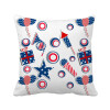 USA Gift Firework Star Festival Pattern Square Throw Pillow Insert Cushion Cover Home Sofa Decor Gift christmas tree star sofa cushion throw pillow case