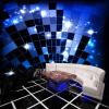 3D Custom Photo Mural Wallpaper Роскошный блеск Синий и черный блок стены Бумага для KTV Бар Гостиная Диван фон фон для презентации черный