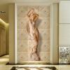 Пользовательские обои Mural 3D стереоскопические европейские цветочные узоры Body Art Mural Living Room Спальня Входные прихожие обои двери металлические входные в алмате