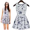 Lovaru ™ 2 015 новых горячих продажи случайных рукавов мини лето улица оснастки простой стиль элегантной женской платья