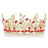 Новая свадебная тиара Персонализированные королевские принцессы Круглые аксессуары для короны для свадьбы