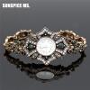 Бренд Турецкий браслет Часы Антикварные ювелирные изделия Золото Цвет Женщины Винтажные браслеты Браслеты Часы Relojes Mujer Hollo