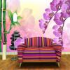 Пользовательские Напечатанные обои Bamboo Butterfly Orchid Large TV Background Настенные украшения Mural Нетканые обои Papel De Parede пользовательские фото обои bamboo forest art wall painting living room tv background mural home decor обои papel de parede 3d