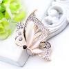 Мода Романтические женские бабочки Брошь Женщины выдолбленный Rhinestone цветок Насекомые Броши Броши Опал ювелирные изделия отвор броши honey jewelry брошь райский сад фиолетовая