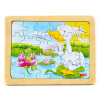 goki Wooden Jigsaw Puzzle with Storage tray (24/48/96pcs and 46/55pcs of 4 layers ) for kids buw constellation frame series pisces diy wooden 3d puzzle jigsaw model g pf102 creative toys of boys girls preschool education games