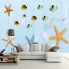 Пользовательские обои 3D Mural Простой современный средиземноморский стиль Starfish Shells Fish Blue Детская комната Спальня Декор Стена Картина 3d обои цвет деревянная доска современный интерьер простой декор стена картина детская комната гостиная фон настенная панно papel tapiz