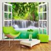 На заказ 3D-роспись 3D-лесной водопад обои спальня гостиная обои природный ландшафт обои настенная живопись обои бамбуковые обои каширский двор 3