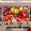 3D обои Свежие фрукты Фрукты Apple Обои на рабочий стол Настенная живопись Кухня Ресторан Современные творческие декоративные обои Papel De Parede 3D