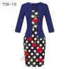 Женская рабочая одежда Longsleeve Весна новая европейская станция сетки Карандаш юбка поддельные два Профессиональное платье L13 женская одежда