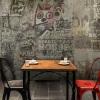 Пользовательская 3d-роспись Lounge bar KTV Cafe Hotel обои для рабочего стола ретро кирпичная стена окрашенная граффити настенная роспись обои пользовательские обои для фото 3d стерео ретро обои для рабочего стола ktv room casual cafe
