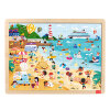 TOI Wooden Jigsaw Puzzle with Storage tray (24/48/80/100pcs) for kids special preschool children tong yizhi world map flags inserted wooden jigsaw puzzle assembled three dimensional toys no