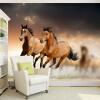 Фото обои 3D Стерео Бегущая лошадь Mural Гостиная Hotel Study Классический интерьер Декор Обои Papel De Parede 3D Fresco интерьер и декор