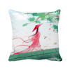 Vermilion Aquamarine Chinese Style Watercolor Polyester Toss Throw Pillow Square Cushion Gift pretty girl blue bird chinese painting polyester toss throw pillow square cushion gift