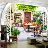 Фото обои Современный отдых Сад Чайный ресторан 3D Настенные обои Гостиная Телевизор Диван-фон Стена Картина Home Decor Fresco бумажные обои fresco cool kids ks2249bd
