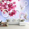 Пользовательские 3D-обои для фото Magnolia Flower Pigeons Living Room TV Background Large Mural Обои Обои для стен Современная картина т мные обои для стен где