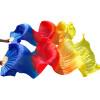 1 Pair Dance Fans Bamboo Ribs Натуральный шелковый сценический спектакль Опоры Красящие вентиляторы Belly Dance Шелковые вентиляторы Royal Blue + Red + Orange + Yellow