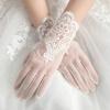 женщины кружева невесты короткие перчатки запястье свадебный вечер костюм костюм женщины воина 46 50